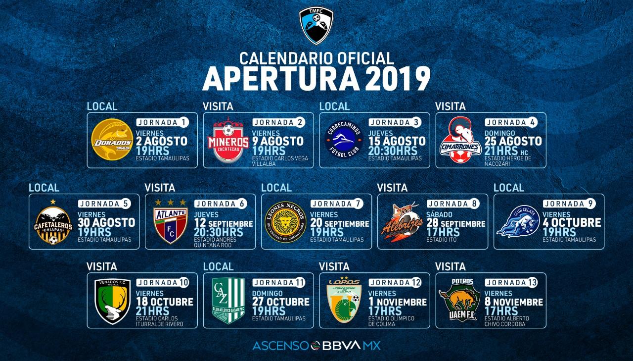 Liga Bbva Calendario 2019.Definido El Calendario De La Jaiba Brava Para El Apertura 2019 Los